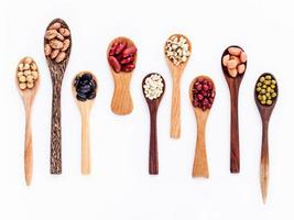 Spoons of beans photo