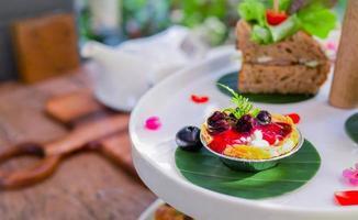 Blueberry cheesecake tart mini