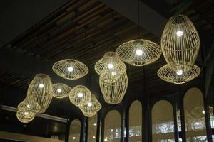 Handmade wicker lampshade
