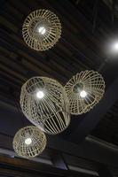 Handmade hanging wicker lampshade