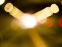 Blurred light gold bokeh abstract background
