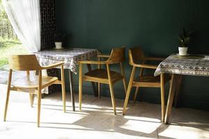 Small cafe interior furniture