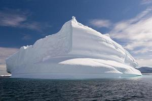 Shaped iceberg in Antarctica photo