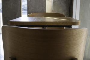 muebles de mesa de madera mínima