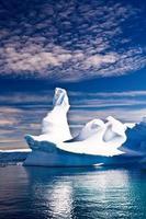 Pinnacle shaped iceberg in Antarctica