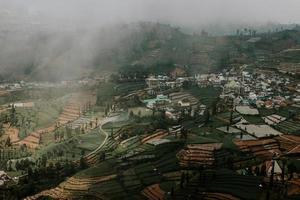Cloudy Dieng hills