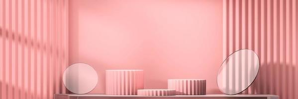 Abstract stage podium mockup