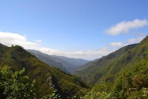 View of the mountain on the island of Madeira, Portugal photo