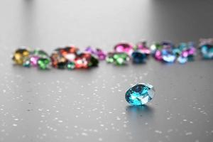 Fondo de diamantes de colores, render 3d