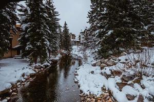 Winter stream in Colorado Springs