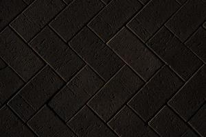 Black brick wall background, brick room, interior texture, wall background