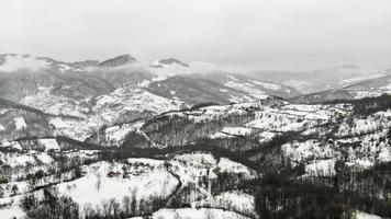 Aerial shoot during wintertime