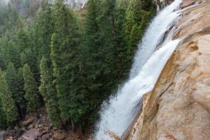 Green trees near waterfalls during daytime photo