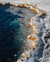 Hot springs at Yellowstone National Park photo