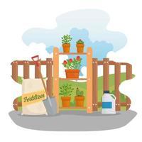 Gardening supplies vector design