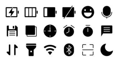 Glyph essential UI Icon set. vector