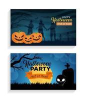 feliz halloween banner set