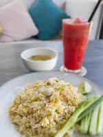 Fried rice on white plate
