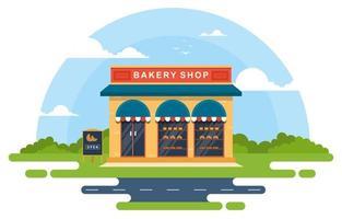 Fancy Bakery Shop in Park vector