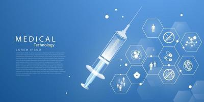 Medical treatment  in innovation concept abstract  technology communication concept vector background