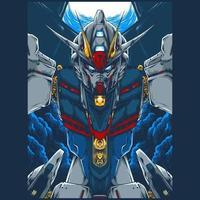 Mecha robot premium vector illustration