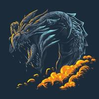 Beast dragon premium vector illustration