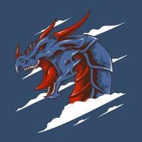 Dragon head vector illustration