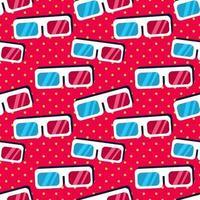 3d glasses seamless pattern illustration