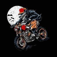 Werewolf Riding Halloween vector Illustration