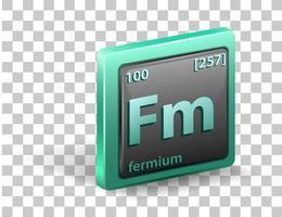 Fermium chemical element vector
