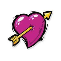 Ilustración de vector de corazón de amor. bueno para la celebración del día de San Valentín o enamorarse símbolo.