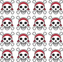 Cute skull pattern with white background vector
