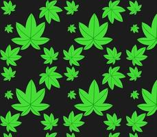 cannabis pattern vector design is great for gift wrapping, printed materials