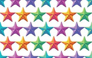 patrón de estrellas de mar de colores. fondo de verano vector