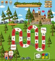 Board Game for kids in fantasy style template vector