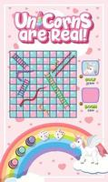 Snake Ladder game in unicorn pastel theme vector