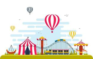 Circus and Amusement Park Illustration vector