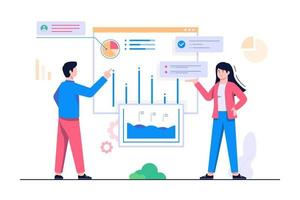 people analytics concept flat illustration vector