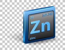 elemento químico zinc vector