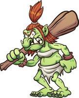 Cartoon female troll vector