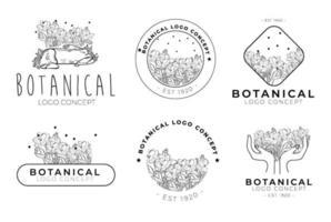 Collection of creative  decorative vector floral deco logo design