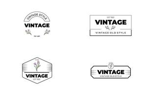 Abstract minimal modern feminine botanical floral organic logo design vector