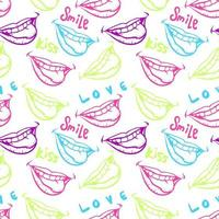 colorful lips seamless pattern vector illustration