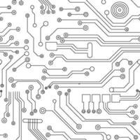 Abstract futuristic circuit board vector pattern Illustration