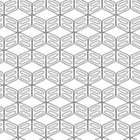 Geometric Rounded rectangles abstract vector pattern