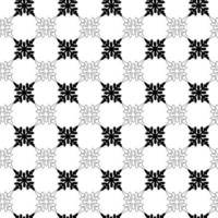 monochromatic snowflakes pattern for prints and web vector
