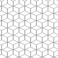 Abstract geometric hexagons arranged pattern vector graphic