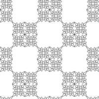 Abstract retro shapes mosaic vector pattern.