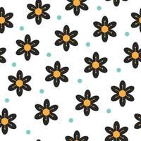 Floral Geometric Flowers seamless pattern vector. vector