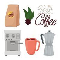 conjunto de iconos de bebida de café vector
